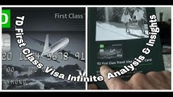 Non-Affiliated | TD First Class Travel Visa Infinite Credit Card Unboxing & Review |