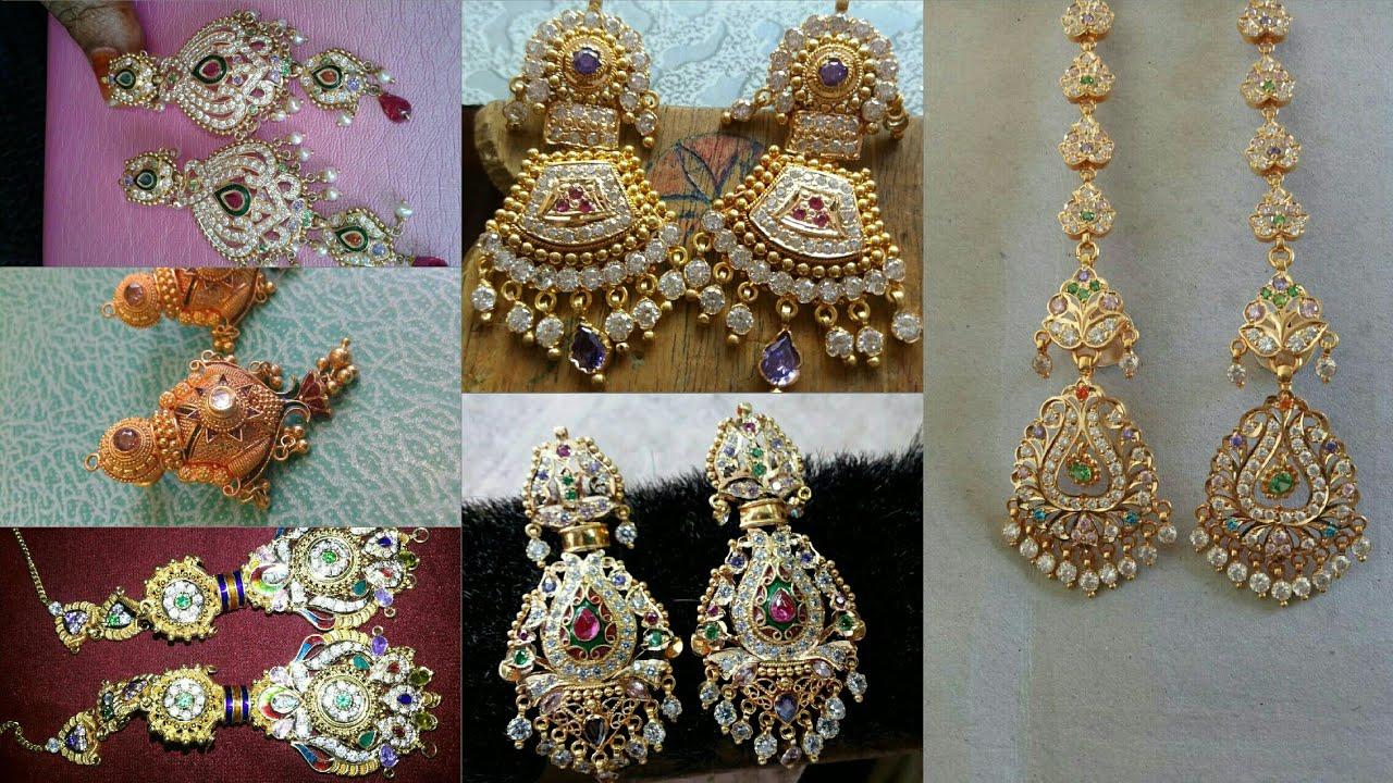 Rajputi Earrings Design Goldn Earrings Indian Design New Fancy