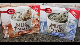 Betty Crocker Mug Treats: Cinnamon Roll & Blueberry Muffin Review