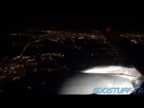 Croatia Airlines Airbus A320-214 - Night Takeoff from Zagreb airport ZAG/LDZA