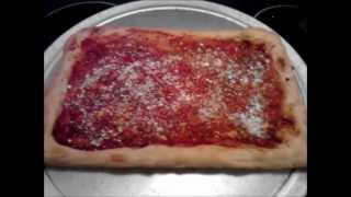 Homemade Sicilian pizza tomato pie recipe