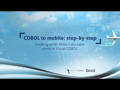 Creating an Air Miles Calculator Demo in Visual COBOL - COBOL to Mobile: Step-by-Step
