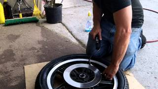How to change front tire on motorcycle