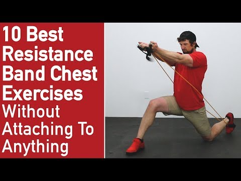 10 Best Resistance Band Exercises For Chest [No Attaching Needed] - YouTube