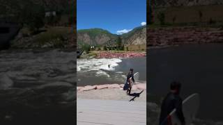 Longboarding river surf Glenwood Springs
