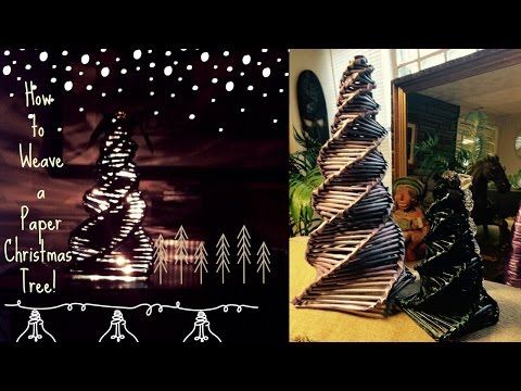Paper Christmas Tree Tutorial (recycling newspaper)