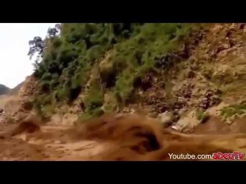 Appalling flash flood in Asia