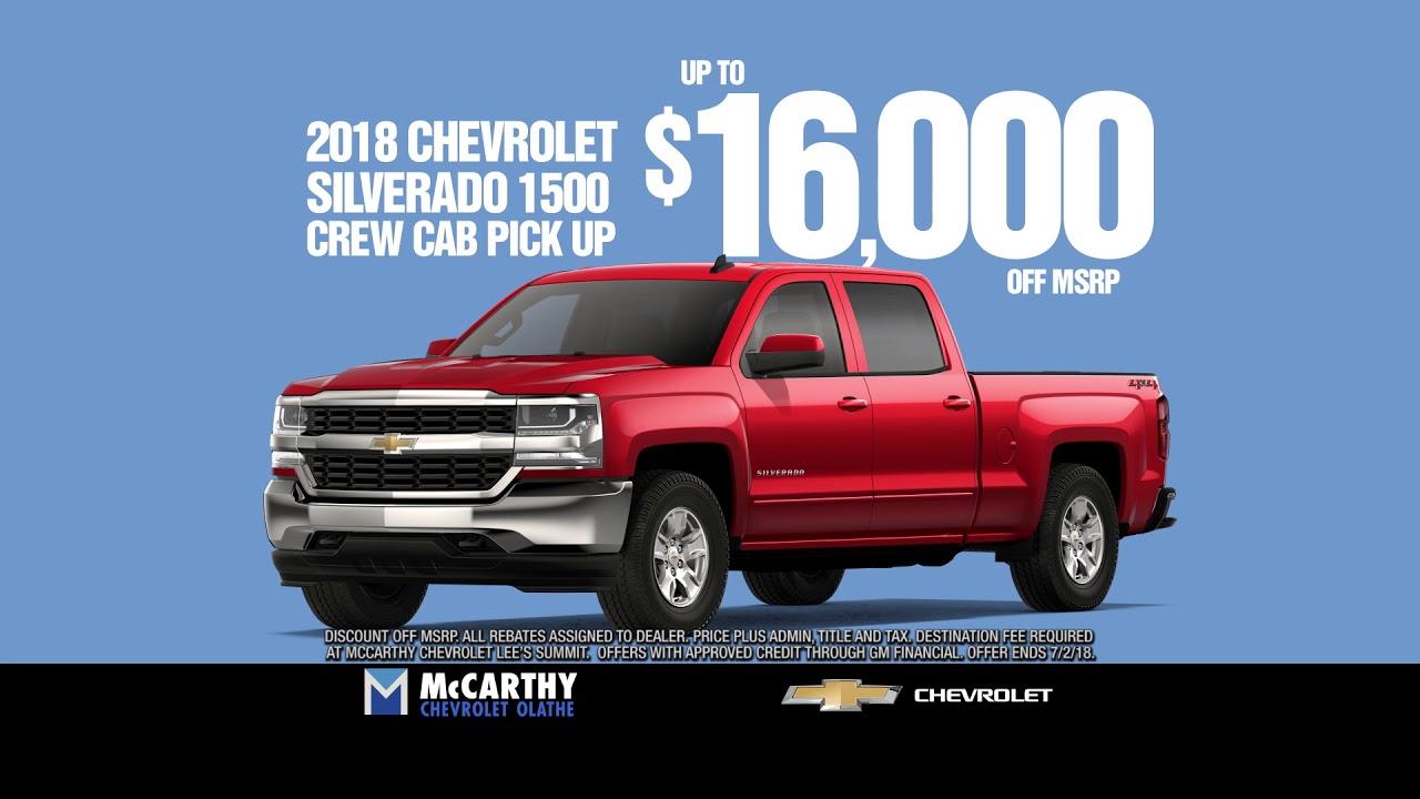 Mccarthy Chevrolet Olathe >> Mccarthy Chevrolet Olathe 16k Off Silverado Youtube