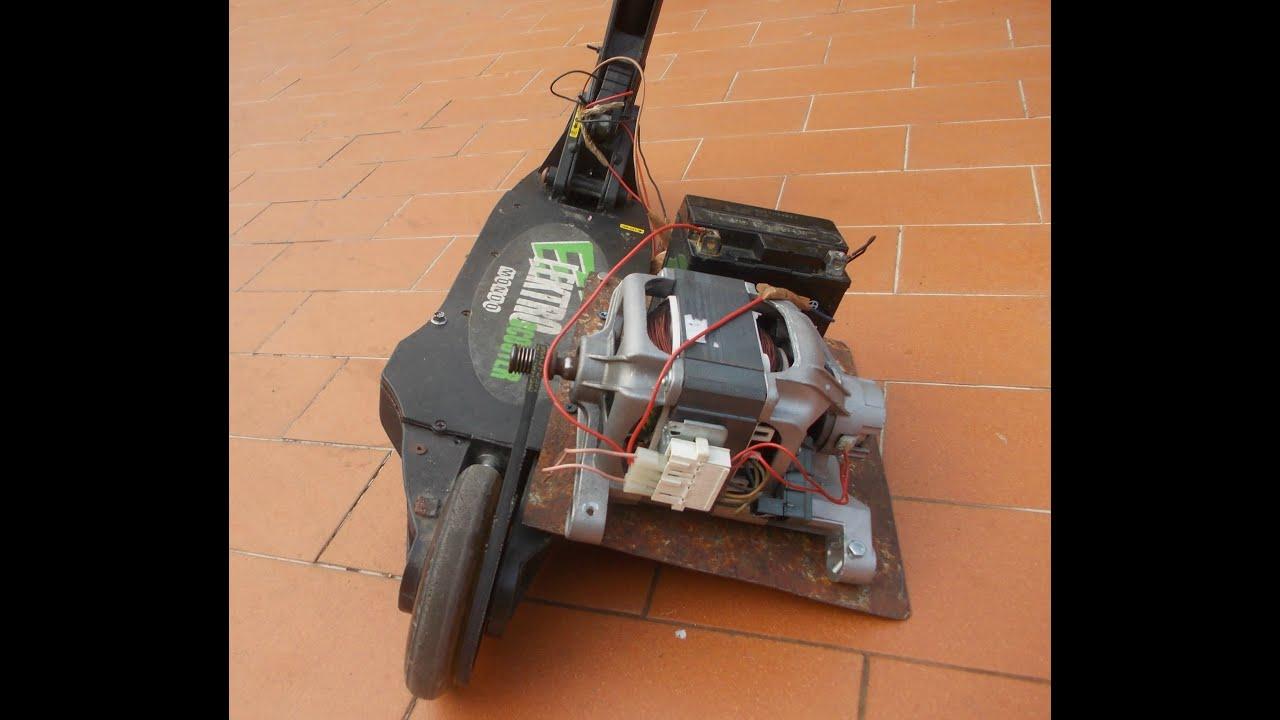 Monopattino con il motore della lavatrice youtube for Sifone elettrico per acquario fai da te