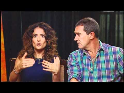 Antonio Banderas and Salma Hayek Interview for PUSS IN BOOTS