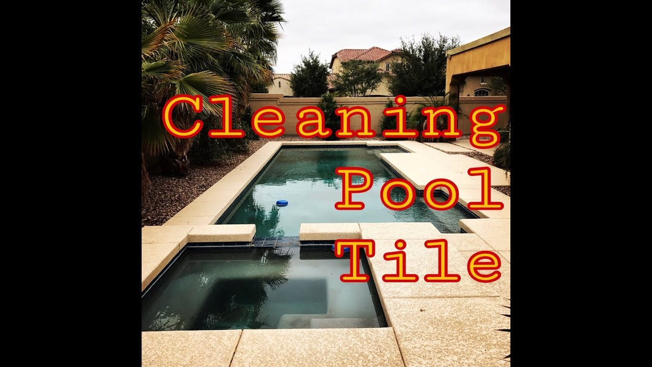how to clean swimming pool tile