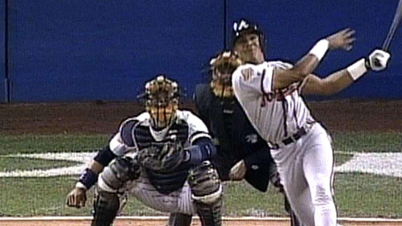 newest cd12d 72a8a 1996 WS Gm1: Andruw homers in his first two at-bats