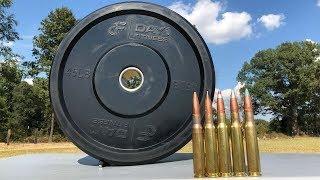 50 BMG vs Bumper Plate 🏋️♂️