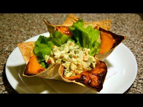 Шикарная подача порционных блюд. Салат Оливье / Elegant Serving Of A La Carte Dishes