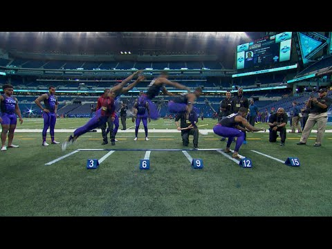 "Byron Jones 12'3"" Broad Jump Sets World Record | 2015 NFL Combine"