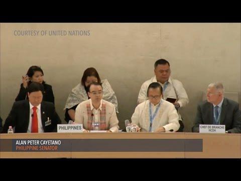 Cayetano defends PH human rights record before UN