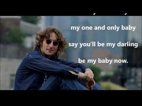 Be My Baby   JOHN LENNON (with lyrics)