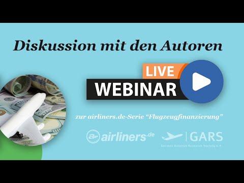 "airliners.de-Live-Webinar ""Flugzeugfinanzierung"""