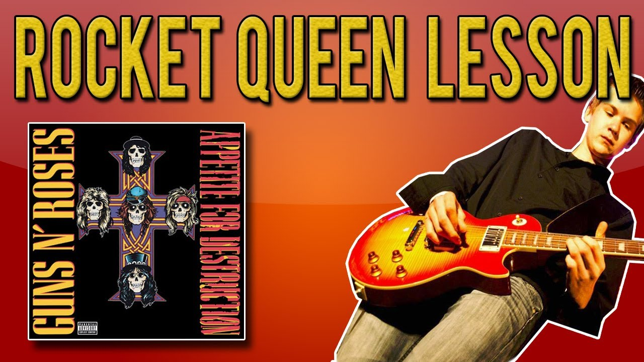 guns n 39 roses rocket queen full guitar lesson with tabs youtube. Black Bedroom Furniture Sets. Home Design Ideas