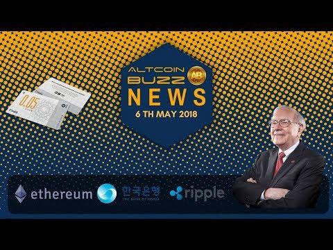 Altcoin News - ETH and XRP Securities? Bank of Korea Crypto? Bitcoin & Buffet, BTC nears 10k