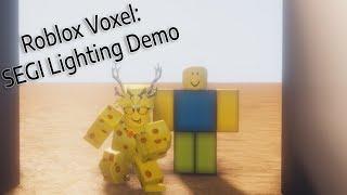 Roblox VOXEL: SEGi demo iluminação