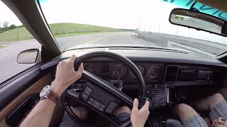 1989 Pontiac Turbo Trans Am Indy Pace Car - WR TV POV Test Drive