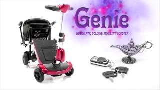 GENIE PLUS Automatic Folding Electric Travel Scooter with Remote Control