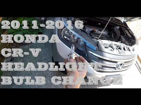 How to remove change replace Headlight bulb 2011-2016 Honda Cr-v crv
