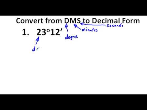Precalculus Chapter 4.1 Exercises 1-24 Convert DMS to Degrees and ...
