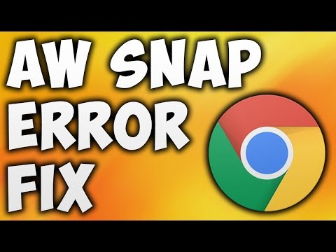 How To Fix Aw Snap Error In Google Chrome - The Easiest Way To Fix