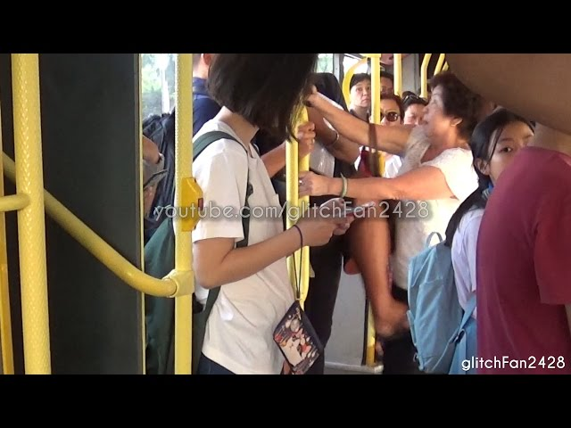 Rude Elderly Lady Gets Kicked and Spat on - Argument in SBS Transit Bus 2016