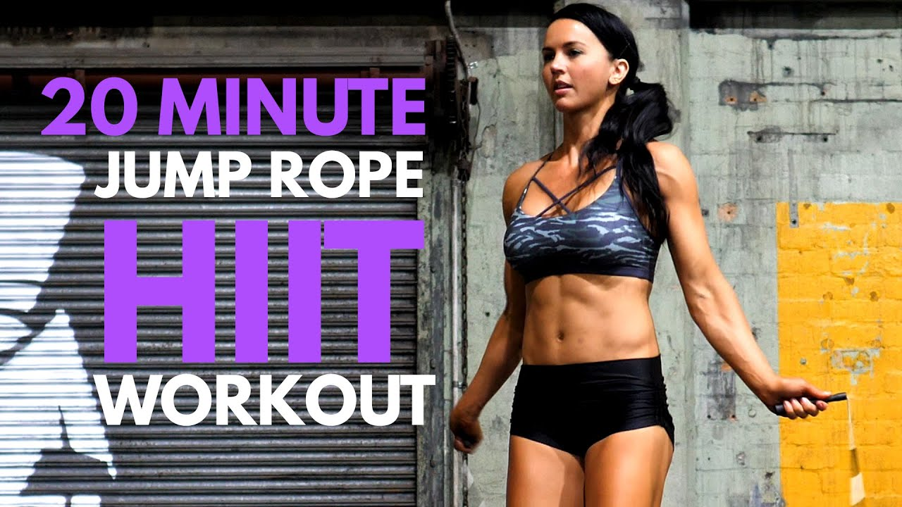 20 MINUTE FULL BODY HOME WORKOUT! Jump Rope HIIT