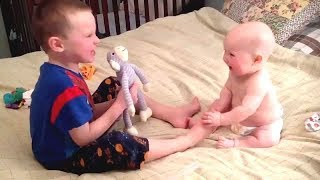 BEST FUNNY Hilarious Bigs Brother/Sister Teaching Babies |  Funny Baby Video