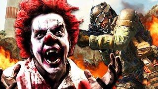 creepy killer clown found on call of duty call of duty clown prank