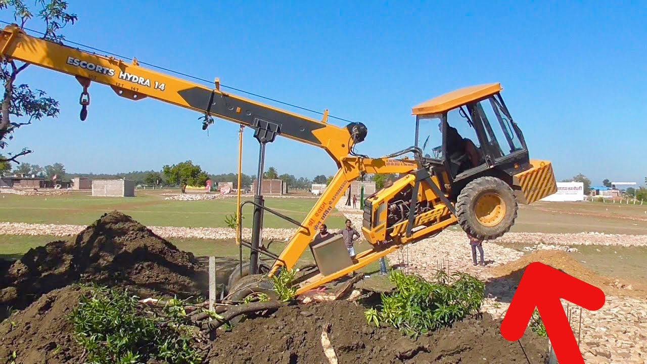 Power of Crane | Mango Tree Replanting by Using Escor Hydra and JCB Machine