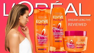 Loreal Elvive Dream Length Hair Care products reviewed - Shampoo, Hair Mask, No Haircut Cream