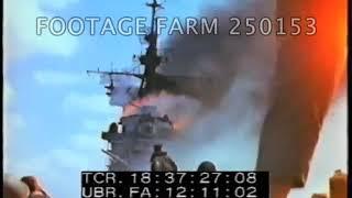 USS Ticonderoga CV-14, Kamikaze Aftermath - 250153-06 | Footag…