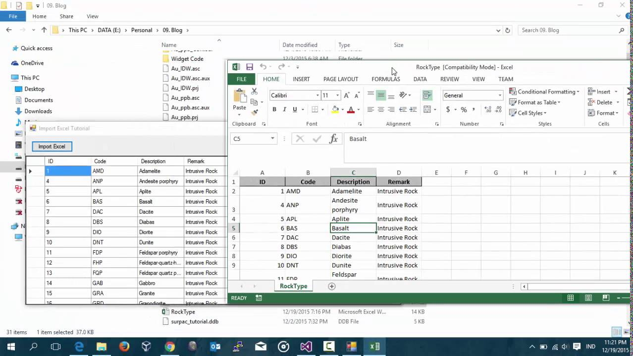 Visual Basic 2015  Import Excel Data To Datagrdview