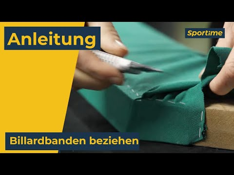 Video: Billardtuch Erneuerung
