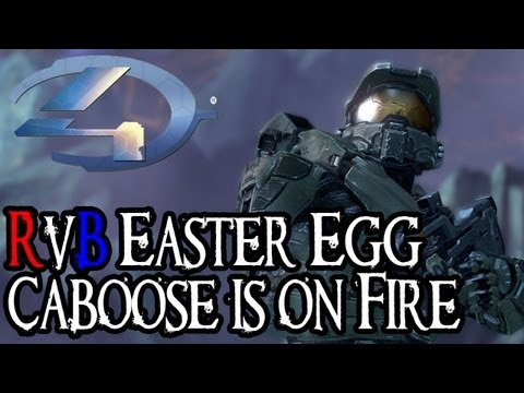 Halo 4 - Red vs Blue Easter Egg - Caboose is on Fire - YouTube