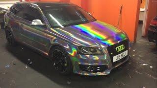 Audi Holographic Chrome Wrap Cardiff Tints