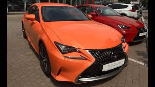 New Lexus RC 200t F Sport 2017.  Test Drive and review.  Тест - драйв и обзор.