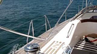 Najad 570 sailing in Rhode Island