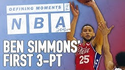 Ben Simmons Finally Makes a 3-Pointer   NBA Defining Moments   The Ringer