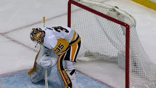 Bruins and Penguins score eight goals on 21 shots in first period