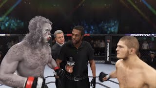 Werewolf vs. Khabib Nurmagomedov (EA Sports UFC 3) - CPU vs. CPU