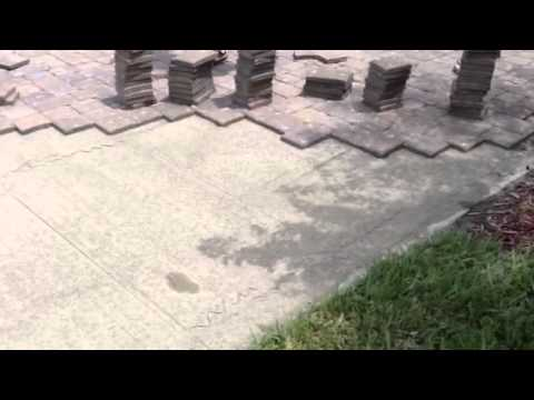 "installing 1"" pavers over concrete - youtube"