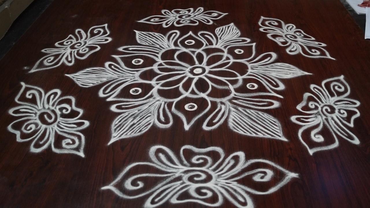 rangoli kolam designs without dots || rangoli designs ...