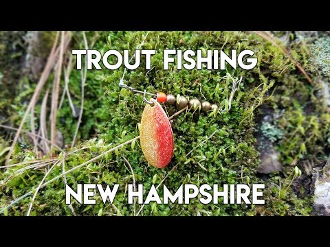 New Hampshire Trout Fishing Before Opening Day - River Brookies On Panther Martin Spinner