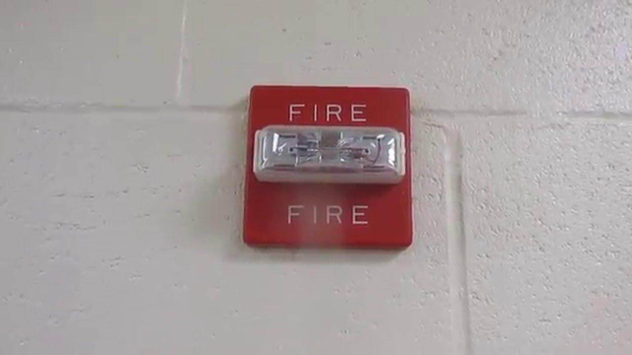 Wheelock MT-24MCW Fire Alarm Test - YouTube  |Wheelock Fire Alarm Horn Strobe